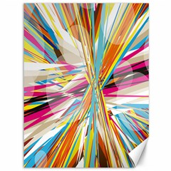 Illustration Material Collection Line Rainbow Polkadot Polka Canvas 36  x 48