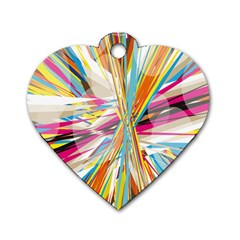 Illustration Material Collection Line Rainbow Polkadot Polka Dog Tag Heart (One Side)