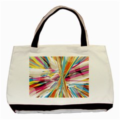 Illustration Material Collection Line Rainbow Polkadot Polka Basic Tote Bag (Two Sides)