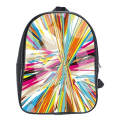 Illustration Material Collection Line Rainbow Polkadot Polka School Bags(large)