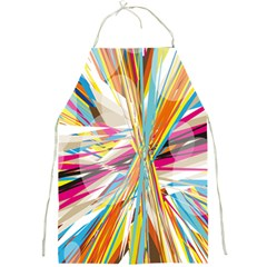 Illustration Material Collection Line Rainbow Polkadot Polka Full Print Aprons by Mariart