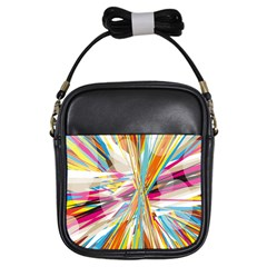 Illustration Material Collection Line Rainbow Polkadot Polka Girls Sling Bags