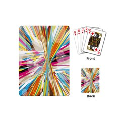 Illustration Material Collection Line Rainbow Polkadot Polka Playing Cards (Mini)