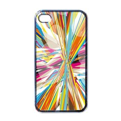 Illustration Material Collection Line Rainbow Polkadot Polka Apple iPhone 4 Case (Black)