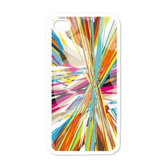 Illustration Material Collection Line Rainbow Polkadot Polka Apple iPhone 4 Case (White)