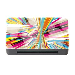 Illustration Material Collection Line Rainbow Polkadot Polka Memory Card Reader with CF