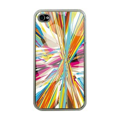 Illustration Material Collection Line Rainbow Polkadot Polka Apple iPhone 4 Case (Clear)