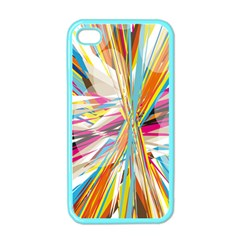 Illustration Material Collection Line Rainbow Polkadot Polka Apple iPhone 4 Case (Color)