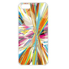 Illustration Material Collection Line Rainbow Polkadot Polka Apple iPhone 5 Seamless Case (White)