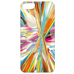 Illustration Material Collection Line Rainbow Polkadot Polka Apple iPhone 5 Classic Hardshell Case