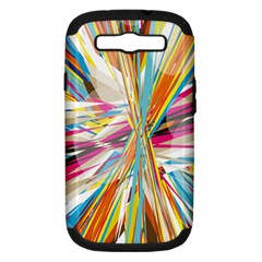 Illustration Material Collection Line Rainbow Polkadot Polka Samsung Galaxy S III Hardshell Case (PC+Silicone)