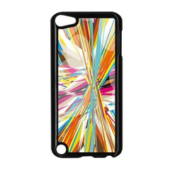Illustration Material Collection Line Rainbow Polkadot Polka Apple iPod Touch 5 Case (Black)