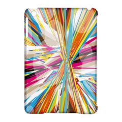 Illustration Material Collection Line Rainbow Polkadot Polka Apple iPad Mini Hardshell Case (Compatible with Smart Cover)