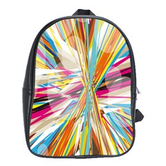 Illustration Material Collection Line Rainbow Polkadot Polka School Bags (XL)