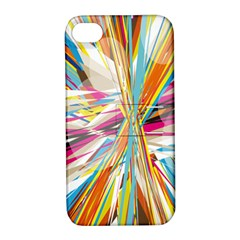 Illustration Material Collection Line Rainbow Polkadot Polka Apple iPhone 4/4S Hardshell Case with Stand