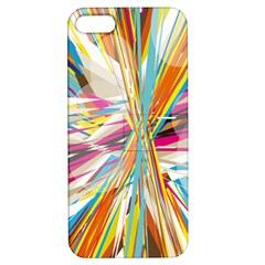 Illustration Material Collection Line Rainbow Polkadot Polka Apple iPhone 5 Hardshell Case with Stand