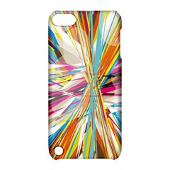 Illustration Material Collection Line Rainbow Polkadot Polka Apple iPod Touch 5 Hardshell Case with Stand