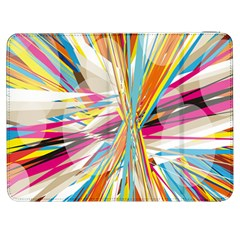 Illustration Material Collection Line Rainbow Polkadot Polka Samsung Galaxy Tab 7  P1000 Flip Case