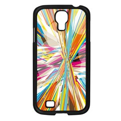 Illustration Material Collection Line Rainbow Polkadot Polka Samsung Galaxy S4 I9500/ I9505 Case (Black)