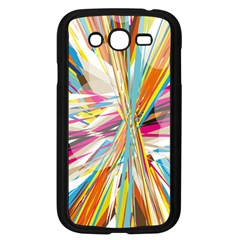 Illustration Material Collection Line Rainbow Polkadot Polka Samsung Galaxy Grand DUOS I9082 Case (Black)