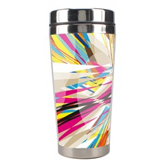 Illustration Material Collection Line Rainbow Polkadot Polka Stainless Steel Travel Tumblers