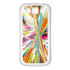 Illustration Material Collection Line Rainbow Polkadot Polka Samsung Galaxy S3 Back Case (White)