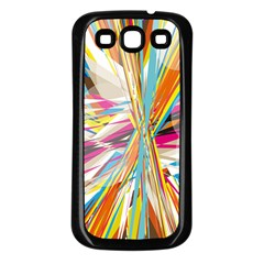 Illustration Material Collection Line Rainbow Polkadot Polka Samsung Galaxy S3 Back Case (Black)
