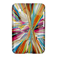 Illustration Material Collection Line Rainbow Polkadot Polka Samsung Galaxy Tab 2 (7 ) P3100 Hardshell Case
