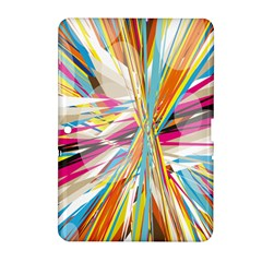 Illustration Material Collection Line Rainbow Polkadot Polka Samsung Galaxy Tab 2 (10.1 ) P5100 Hardshell Case