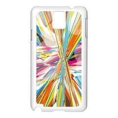 Illustration Material Collection Line Rainbow Polkadot Polka Samsung Galaxy Note 3 N9005 Case (White)