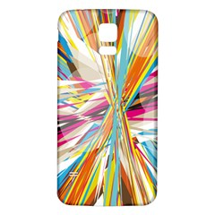 Illustration Material Collection Line Rainbow Polkadot Polka Samsung Galaxy S5 Back Case (White)
