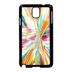 Illustration Material Collection Line Rainbow Polkadot Polka Samsung Galaxy Note 3 Neo Hardshell Case (Black)