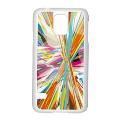 Illustration Material Collection Line Rainbow Polkadot Polka Samsung Galaxy S5 Case (White)