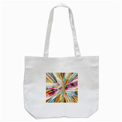 Illustration Material Collection Line Rainbow Polkadot Polka Tote Bag (White)