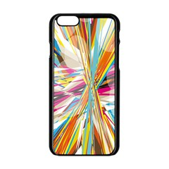 Illustration Material Collection Line Rainbow Polkadot Polka Apple iPhone 6/6S Black Enamel Case