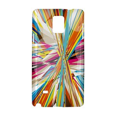 Illustration Material Collection Line Rainbow Polkadot Polka Samsung Galaxy Note 4 Hardshell Case