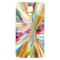 Illustration Material Collection Line Rainbow Polkadot Polka Galaxy Note 4 Back Case