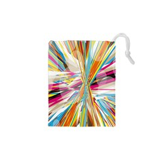 Illustration Material Collection Line Rainbow Polkadot Polka Drawstring Pouches (XS)