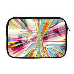 Illustration Material Collection Line Rainbow Polkadot Polka Apple MacBook Pro 17  Zipper Case