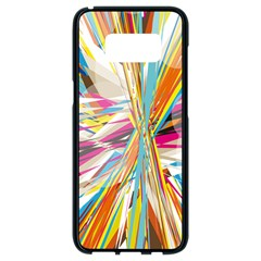 Illustration Material Collection Line Rainbow Polkadot Polka Samsung Galaxy S8 Black Seamless Case