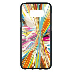 Illustration Material Collection Line Rainbow Polkadot Polka Samsung Galaxy S8 Plus Black Seamless Case
