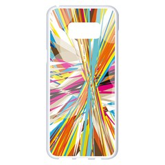 Illustration Material Collection Line Rainbow Polkadot Polka Samsung Galaxy S8 Plus White Seamless Case