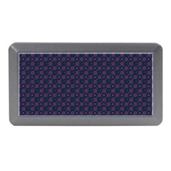 Purple Floral Seamless Pattern Flower Circle Star Memory Card Reader (mini) by Mariart