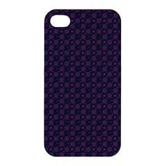 Purple Floral Seamless Pattern Flower Circle Star Apple Iphone 4/4s Hardshell Case by Mariart