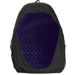 Purple Floral Seamless Pattern Flower Circle Star Backpack Bag by Mariart