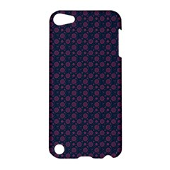 Purple Floral Seamless Pattern Flower Circle Star Apple Ipod Touch 5 Hardshell Case by Mariart