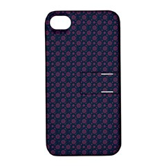 Purple Floral Seamless Pattern Flower Circle Star Apple Iphone 4/4s Hardshell Case With Stand by Mariart