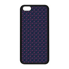 Purple Floral Seamless Pattern Flower Circle Star Apple Iphone 5c Seamless Case (black) by Mariart