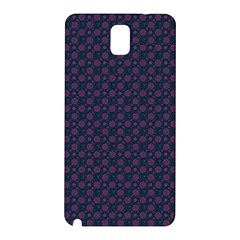 Purple Floral Seamless Pattern Flower Circle Star Samsung Galaxy Note 3 N9005 Hardshell Back Case by Mariart