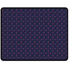 Purple Floral Seamless Pattern Flower Circle Star Double Sided Fleece Blanket (medium)  by Mariart